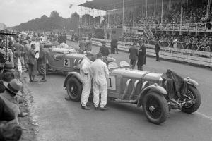 Mercedes-Benz SSKs of Malcolm Campbell and Earl Howe, Irish Grand Prix, Phoenix Park, Dublin, 1930 by Bill Brunell