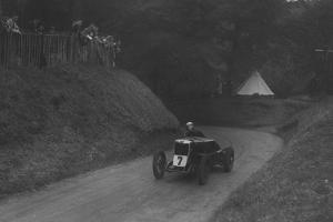 MG C type of Barbara Skinner competing in the Shelsley Walsh Hillclimb, Worcestershire, 1935 by Bill Brunell