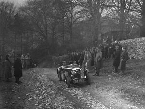 MG J2 of WH Haden climbing Nailsworth Ladder, Sunbac Colmore Trial, Gloucestershire, 1934 by Bill Brunell