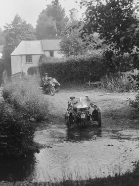 Morgan 3-wheeler, B&HMC Brighton-Beer Trial, Windout Lane, near Dunsford, Devon, 1934 by Bill Brunell