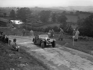 Morgan 4 - 4 2-seater sports of GN Scott competing in the South Wales Auto Club Welsh Rally, 1937 by Bill Brunell