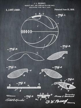Basketball, 1916-Chalkboard by Bill Cannon