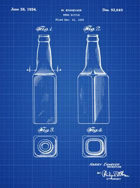 Beer Bottle 1934 Blueprint by Bill Cannon