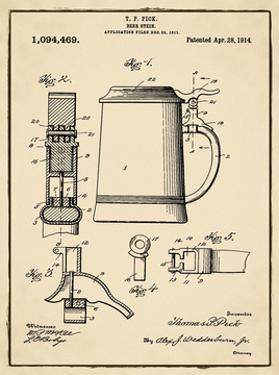 Beer Stein 1914 Sepia by Bill Cannon