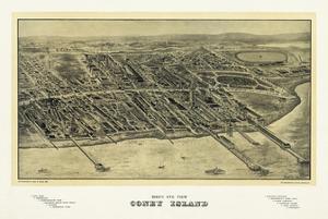 Birds eye view of Coney Island by Bill Cannon