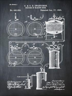 Brewery Patent 1891 Chalk by Bill Cannon