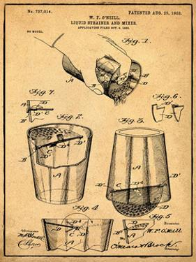 Cocktail Mixer 1903 Sepia by Bill Cannon
