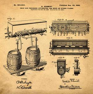 Schmidts Tap 1900 in Sepia by Bill Cannon