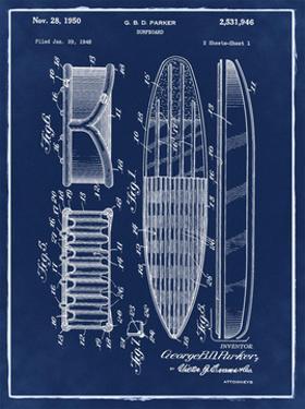 Surfboard, 1948-Blue II by Bill Cannon