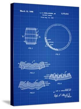 Whiskey Barrel Blueprint by Bill Cannon