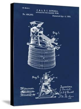 Wine Making 1893 Blue by Bill Cannon