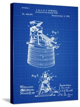 Wine Making 1893 Blueprint by Bill Cannon