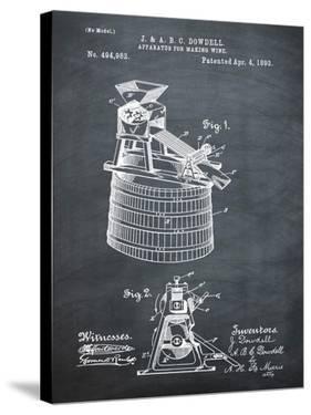 Wine Making 1893 Chalk by Bill Cannon