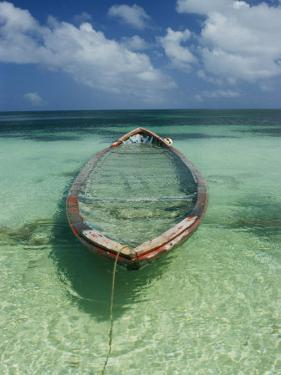 A Boat Submerged in Crystal Clear Water by Bill Curtsinger