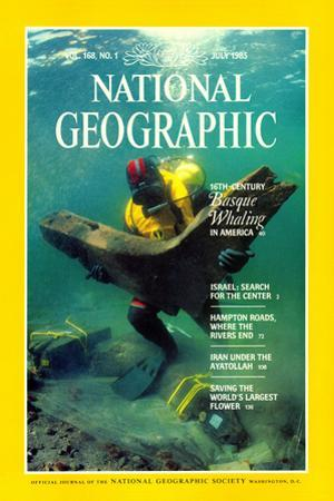 Cover of the July, 1985 National Geographic Magazine by Bill Curtsinger