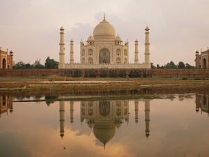 A View of the Taj Mahal Reflected in the Yamuna River by Bill Ellzey