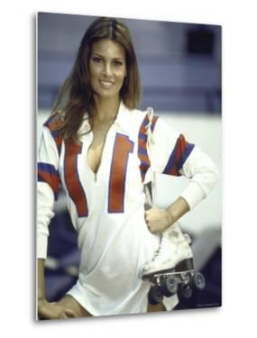 """Actress Raquel Welch in Uniform During Filming of Motion Picture """"The Kansas City Bomber"""" by Bill Eppridge"""