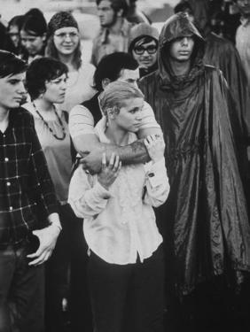 Hippies in Audience at Woodstock Music Festival by Bill Eppridge