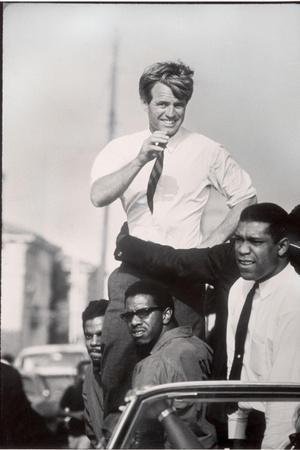 Senator Robert F. Kennedy Campaigning During the California Primary