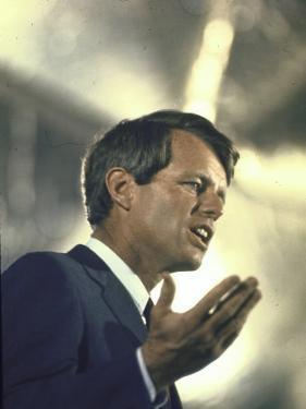 Senator Robert Kennedy on Campaign Trail During Presidential Primary Season by Bill Eppridge