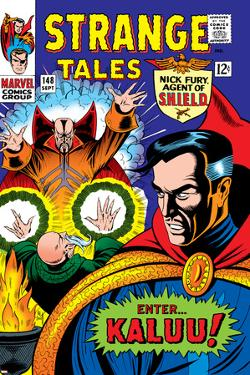 Strange Tales No.148 Cover: Dr. Strange, Ancient One and Kaluu by Bill Everett