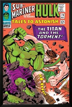 Tales to Astonish No.79 Cover: Hulk and Hercules by Bill Everett