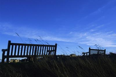 Benches at the Royal and Ancient Golf Club of St. Andrews