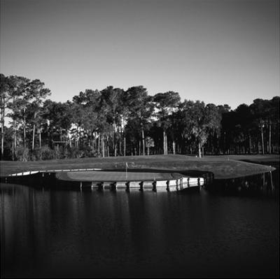 TPC Sawgrass Stadium Course, Hole 17, Black and White