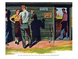"""The Wrong Kind of Boy  - Saturday Evening Post """"Leading Ladies"""", April 18, 1953 pg.30 by Bill Fleming"""