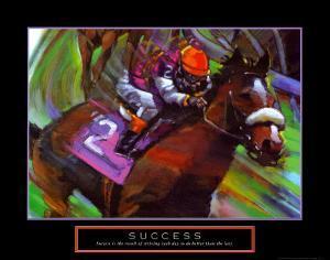 Success: Horse Race Jockey by Bill Hall
