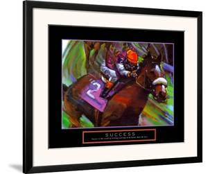 Success: Horse Race Jockey by Bill Hall