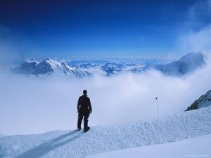 A Climber at 16,000 Feet on the West Buttress of Denali by Bill Hatcher
