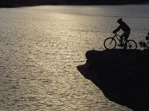 A Man Takes in the View from Above Mcphee Reservoir by Bill Hatcher