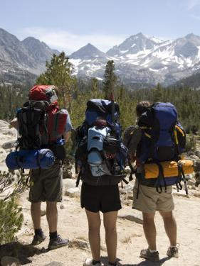 Backpackers on the Trail into the Sierras, California by Bill Hatcher