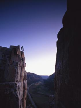 Climber at Unaweep Canyon, Colorado by Bill Hatcher