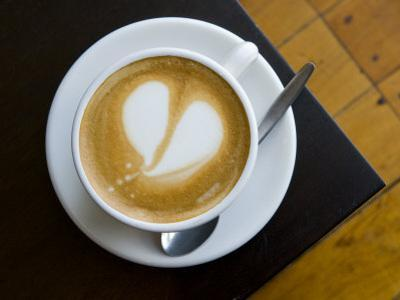 Cup of Coffee with a Heart Design in Foam, Flat White by Bill Hatcher