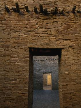Doorway and Walls Inside Pueblo Bonito by Bill Hatcher
