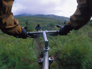 Expedition Members Pedal Their Way Through Lake Clark National Park, Alaska by Bill Hatcher