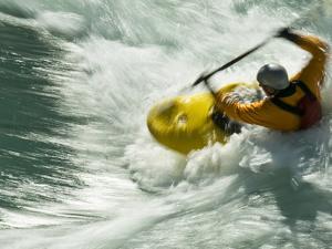 Kayaking on the Kananaskis River by Bill Hatcher