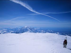Lone Climber near the Summit of Mount Mckinley, Alaska by Bill Hatcher