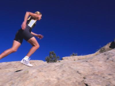 Running on Comb Ridge, Near Bluff, Utah by Bill Hatcher