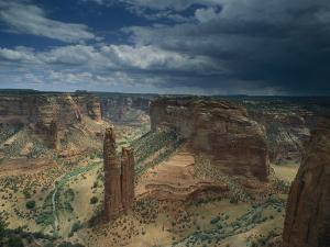 Scenic View of the Canyon and Spider Rock by Bill Hatcher