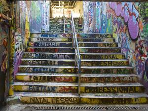 The Graffiti Walkway on the University Campus by Bill Hatcher