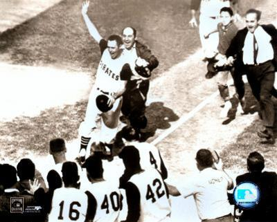Bill Mazeroski - 1960 World Series Winning Home Run, sepia