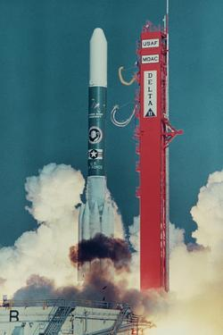 American Rocket Blasting into Space by Bill Mitchell