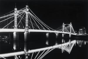 Albert Bridge At Night by Bill Philip