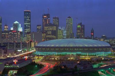 Aerial View of the Minneapolis Metrodome before World Series