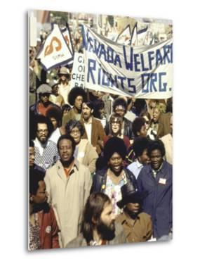 Actress Jane Fonda and Ralph Abernathy Joining Together for a Welfare Rights March by Bill Ray