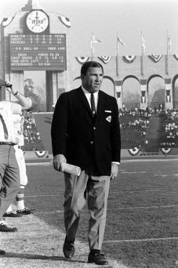 Coah Hank Stram of the Kansas City Chiefs, Super Bowl I, Los Angeles, CA, January 15, 1967 by Bill Ray
