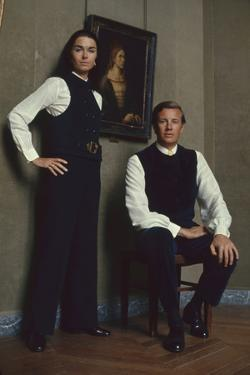 French Fashion Designer Bernard Lanvin and His Wife, Meryl, Louvre, Paris, France, 1968 by Bill Ray